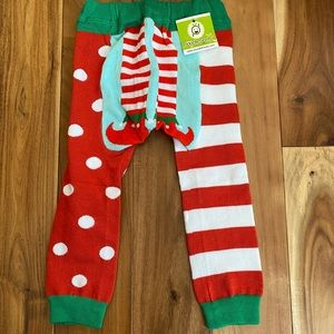 NWT Doodle Pants Christmas elf leggings Sz small